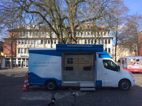 Beratungsmobil der Unabhängigen Patientenberatung kommt am 28. September nach Münster.