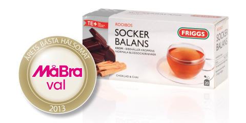 Friggs Te+ SOCKERBALANS utsedd till årets bästa hälsomat