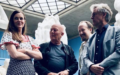 Charlotte Frogner, Nils Ole Oftebro,  Torgny Anderaa og Lasse Lindtner