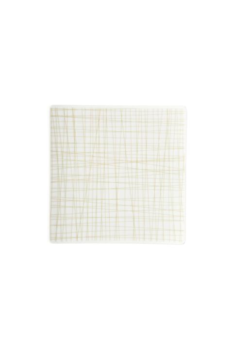 R_Mesh_Line Cream_Teller 17 cm quadr flach