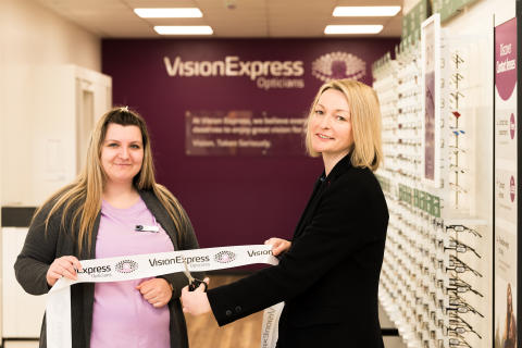 Local MP Jessica Morden supports Vision Express as it opens new optical stores in Newport