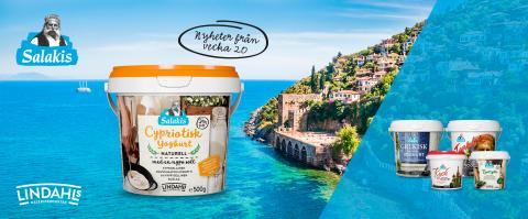 Lindahls Salakis lanserar unik medelhavsinspirerad yoghurt – Cypriotisk yoghurt med en nypa salt