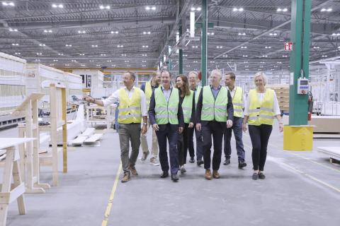 Fabriksbesök, Derome, Varberg