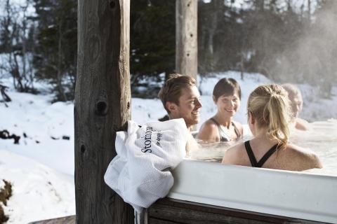 Storhogna Högfjällshotell & Spa fjällbastu bubbelpool utomhus