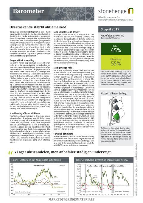 Barometer: Overraskende stærkt aktiemarked