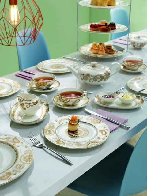 Un envoûtant design : la nouvelle décoration Anmut Samarah met en scène une élégance ornementale sur la table