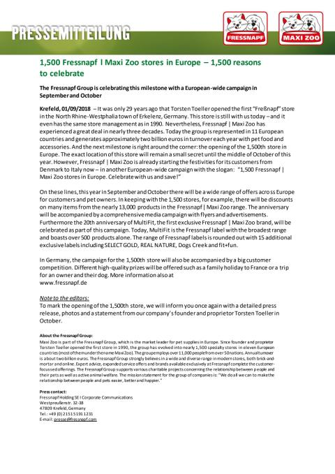 English Version of Press Release regarding the campaign