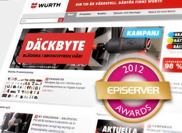Ninetech & Würth finalister i EPiServer Awards 2012