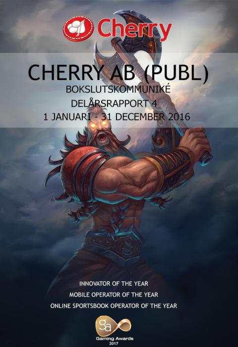 Bokslutskommuniké 2016, 1 januari- 31 december 2016
