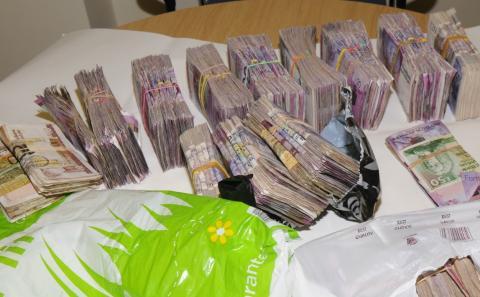 Operation Lacrosse - cash seized