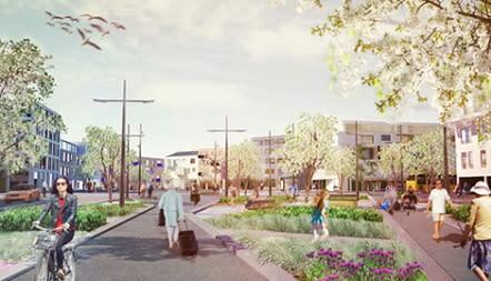 Nu invigs Båstads nya stationsområde vid Hallandsåsen