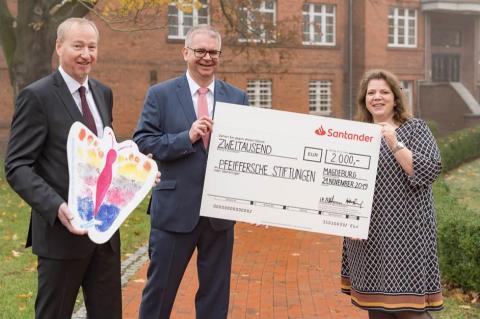 Unterstützung für Erkrankte, Geschwister und Eltern: Santander Select unterstützt Kinderhospiz Magdeburg