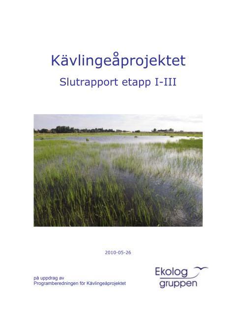 Kävlingeåprojektet - slutrapport