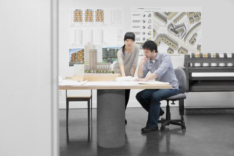 HP Designjet T920 ePrinter i miljø