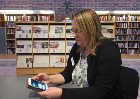Bibliotekens nya tjänst ger möjlighet att läsa tidskrifterna hemifrån