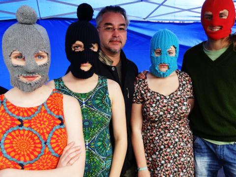 """Alfons Karabudas tal under """"Free Pussy Riot"""" på Live at Heart 7 september 2012"""