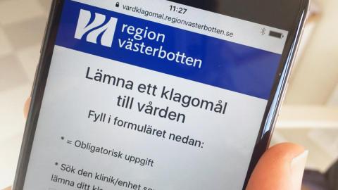 Enklare att lämna klagomål till vården i Västerbotten