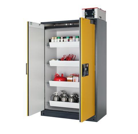 Select – Innovativt brandsäkert skåp för kemikalier.