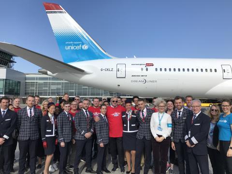 Norwegian and UNICEF crew