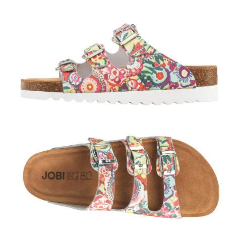 Blommig sandal/toffel