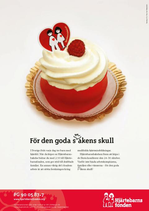 Äldre annons för Hjärtebarnsfonden
