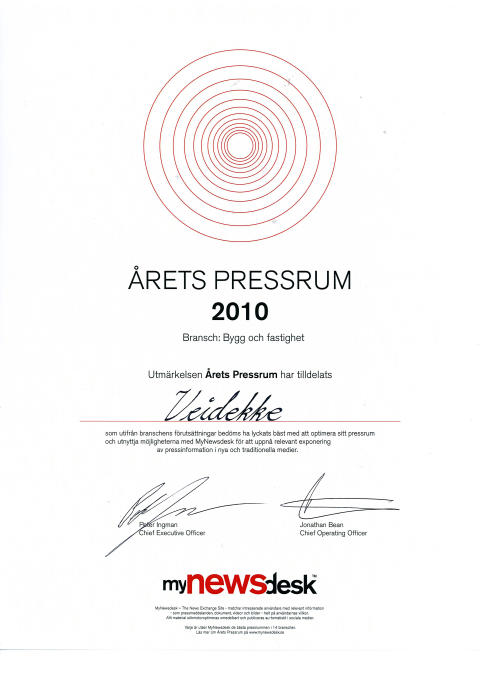 Årets pressrum 2010