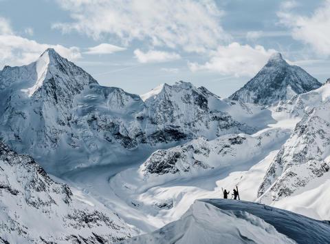 Skitouren in Zinal, Wallis.