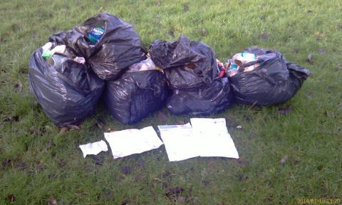 DUMPED: Rubbish left on land off Albert Royds Street in Rochdale