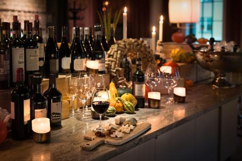 Vinbord istället för julbord – en resa i vinets värld