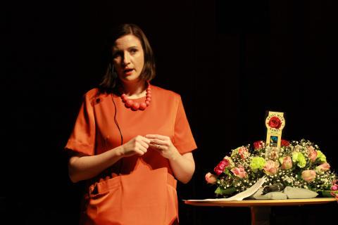 EU- och konsumentminister Birgitta Ohlsson på Catwalk for Change i Malmö 111119