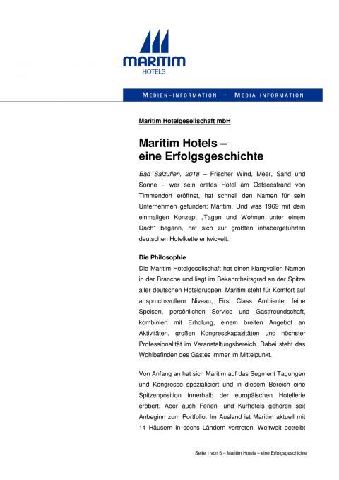Maritim Hotels –  eine Erfolgsgeschichte