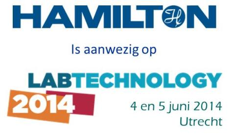 Bezoek de Hamilton Robotics stand tijdens LabTechnology 2014