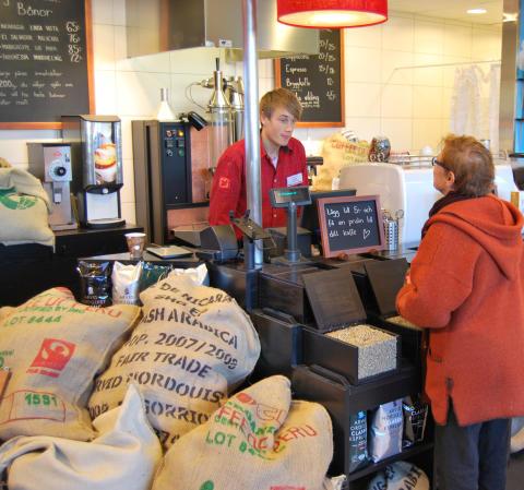 Färskaste kaffet i Stockholm hittar du på Coop Extra i Danderyd!