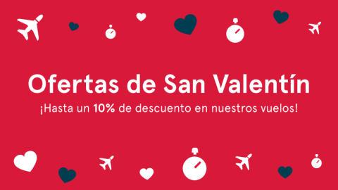Por San Valentín, Norwegian ofrece descuentos de hasta 10 por ciento para sus vuelos de cabotaje y a Londres