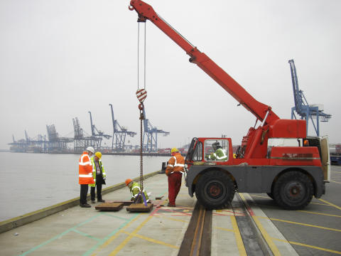 Port of Felixstowe, UK, before installing composite trench covers