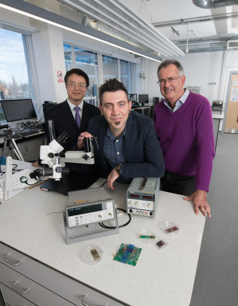 From L-R:  Professor Richard Fu, Dr Pep Canyelles Pericas and Epigem Managing Director Dr Tim Ryan