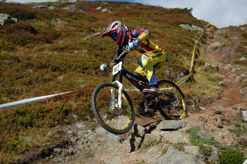 Europacuptävling i MTB Downhill i Leogang, Österrike