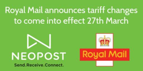 Royal Mail tariff changes to come into effect 27th March