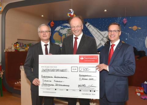 Spendenübergabe in Schwerin