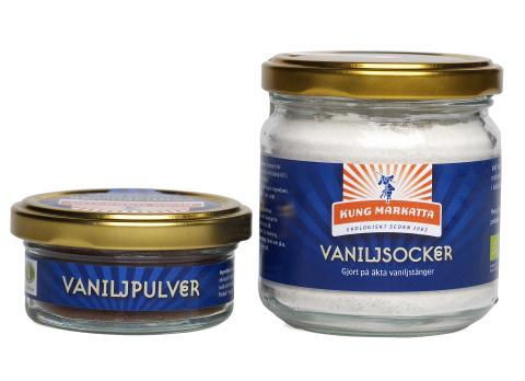 Äntligen äkta ekologiskt vaniljpulver och vaniljsocker från Kung Markatta