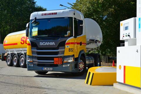 Scania G 410 LNG-Kunde Klaeser