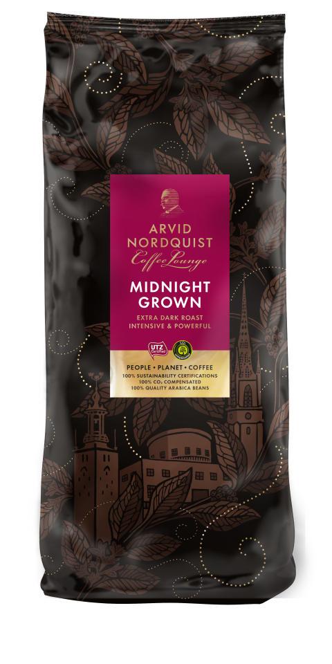Classic Coffee Lounge - Midnight Grown, hela bönor