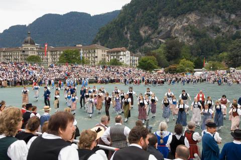 Trachtentanz, Unspunnenfest Interlaken / Quelle: Verein Unspunnenfest