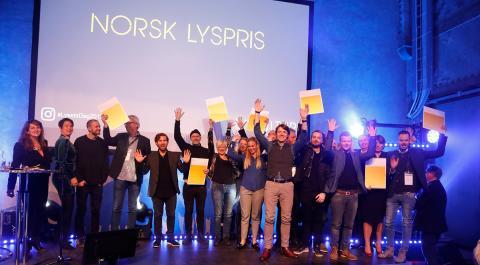 Hele 44 søknader kjemper om å vinne Norsk Lyspris 2019
