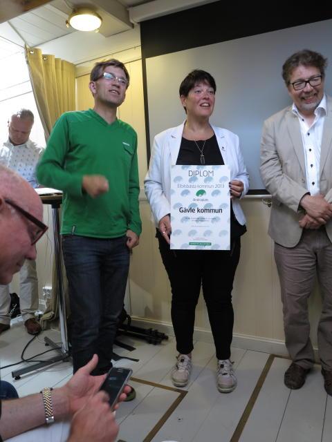 Gävle – andra plats – Sveriges Elbilbästa Kommun 2013.