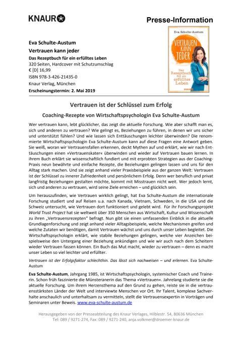 Presseinformation Schulte-Austum