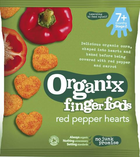 Nu till Sverige!  Finger Foods från brittiska Organix