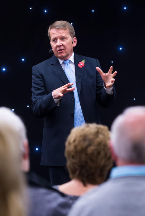 ENTERTAINING: BBC presenter Bill Turnbull talked to a capacity crowd for over an hour.