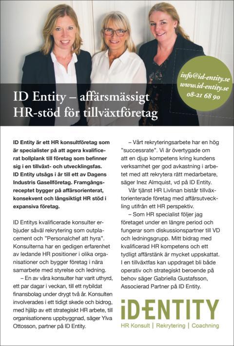 ID Entity – affärsmässigt HR-stöd för tillväxtföretag