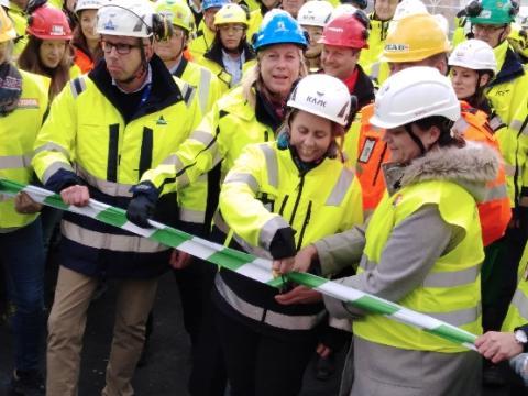 Byggsektorns första  Säkerhetspark invigd
